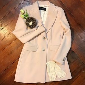 Zara light pink dress jacket